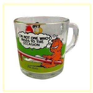 Vintage Garfield glass mug